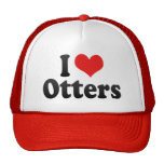 I Love Otters Trucker Hat