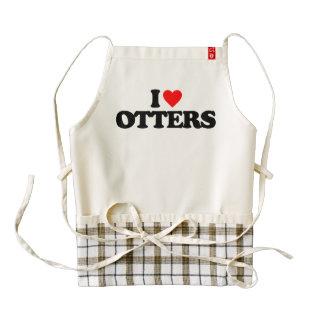 I LOVE OTTERS ZAZZLE HEART APRON