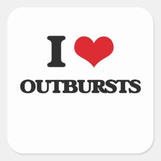 I Love Outbursts Square Sticker