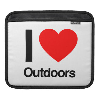 i love outdoors iPad sleeves