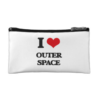 I Love Outer Space Cosmetics Bags