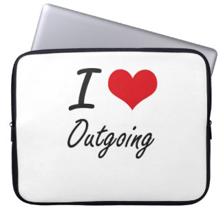 I Love Outgoing Laptop Sleeves