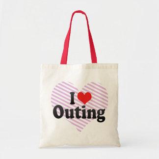 I Love Outing Budget Tote Bag