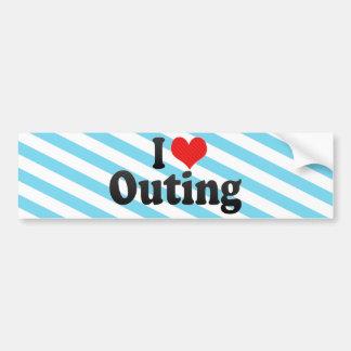 I Love Outing Car Bumper Sticker