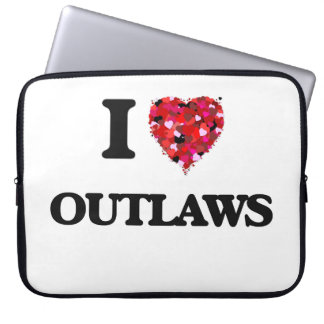 I Love Outlaws Laptop Computer Sleeve