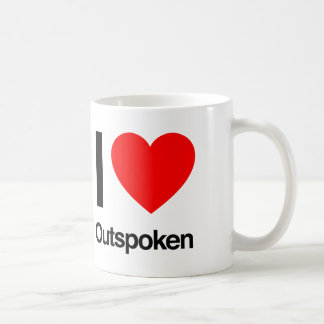 i love outspoken coffee mug