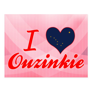 I Love Ouzinkie, Alaska Post Cards