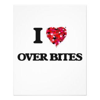 """I love Over Bites 4.5"""" X 5.6"""" Flyer"""