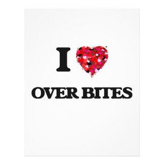 """I love Over Bites 8.5"""" X 11"""" Flyer"""