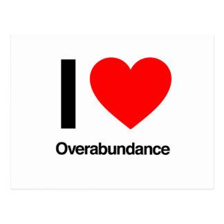 i love overabundance postcard