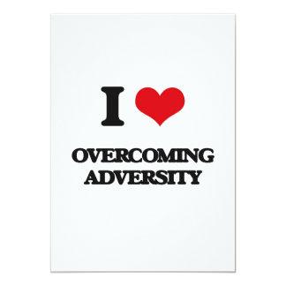 I Love Overcoming Adversity 5x7 Paper Invitation Card