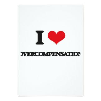 I Love Overcompensation 5x7 Paper Invitation Card