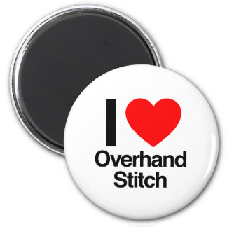 i love overhand stitch fridge magnets