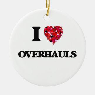I Love Overhauls Double-Sided Ceramic Round Christmas Ornament