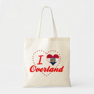 I Love Overland, Missouri Canvas Bags