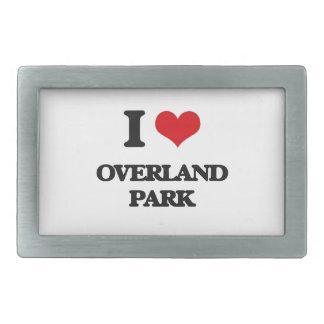 I love Overland Park Rectangular Belt Buckles