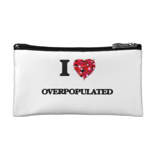 I Love Overpopulated Cosmetic Bag