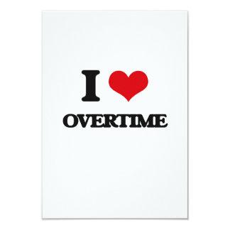 I Love Overtime 3.5x5 Paper Invitation Card