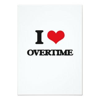 "I Love Overtime 5"" X 7"" Invitation Card"