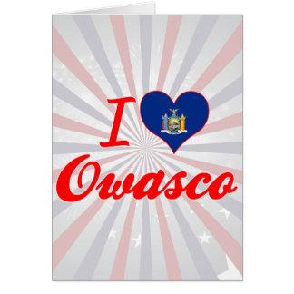 I Love Owasco, New York Greeting Card