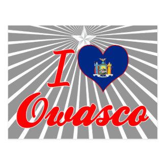 I Love Owasco, New York Postcard