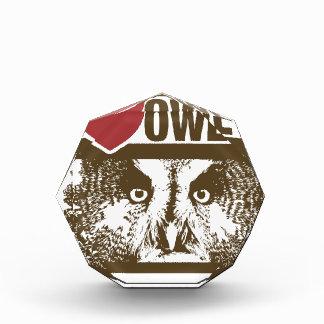 I Love Owls Acrylic Award