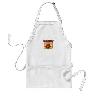 i love owls adult apron