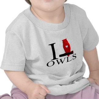 I Love Owls Baby's T-shirt