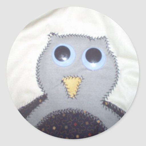 I Love Owls Classic Round Sticker