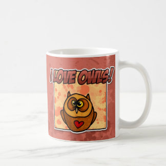 i love owls coffee mug