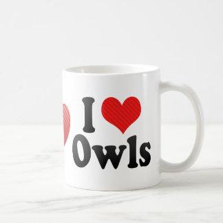 I Love Owls Coffee Mugs