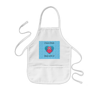 I love owls deal with it! kids' apron