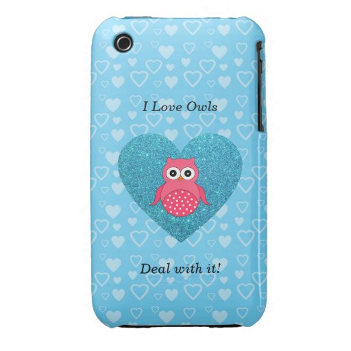 I love owls deal with it! iPhone 3 cover