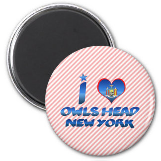 I love Owls Head, New York 2 Inch Round Magnet