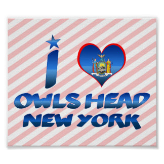 I love Owls Head, New York Poster