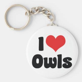 I Love Owls Keychain