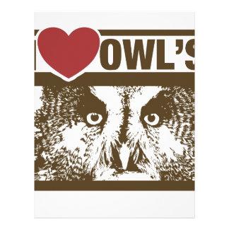 I Love Owls Letterhead