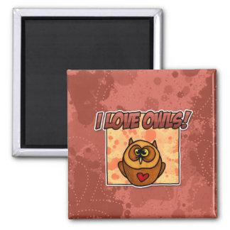 i love owls fridge magnets