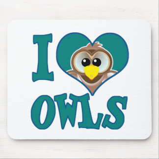 I Love owls Mouse Pad
