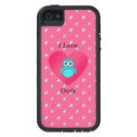 I love owls pink diamonds iPhone 5 cases