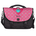 I love owls pink diamonds laptop commuter bag
