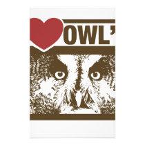 I Love Owls Stationery