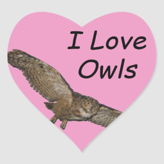 I love owls stickers
