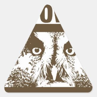 I Love Owls Triangle Sticker