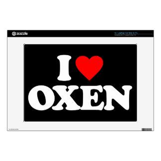 "I LOVE OXEN 13"" LAPTOP SKIN"