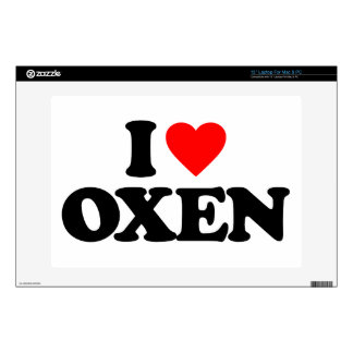 I LOVE OXEN LAPTOP DECAL