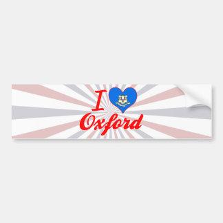 I Love Oxford, Connecticut Car Bumper Sticker