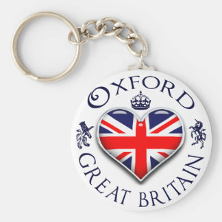 I Love Oxford Keychain