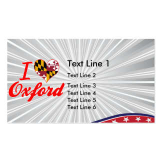I Love Oxford, Maryland Double-Sided Standard Business Cards (Pack Of 100)