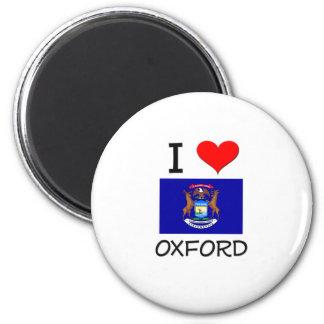I Love Oxford Michigan 2 Inch Round Magnet